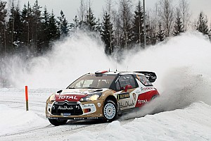 WRC Leg report Citroen's Loeb holds second on leg one of Rally Sweden