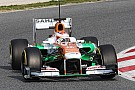A solid first day of work in Barcelona for Sahara Force India