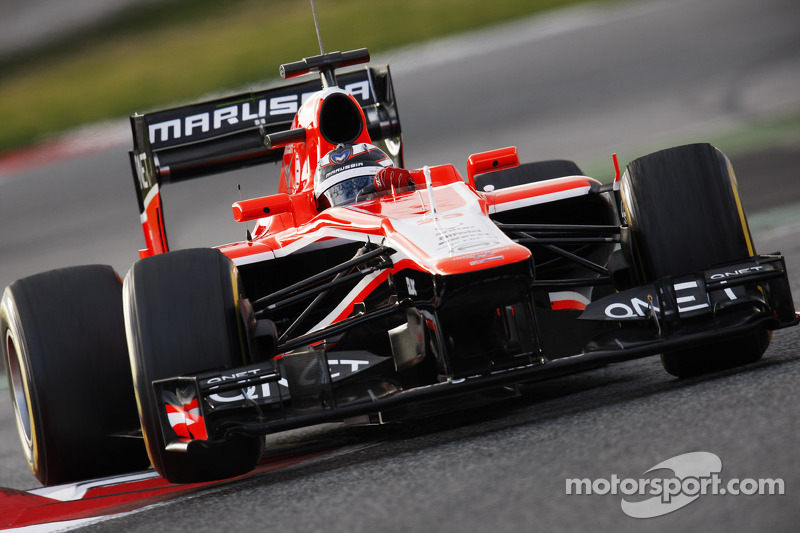 Positive results for Marussia on its first day of testing at the Circuit de Catalunya