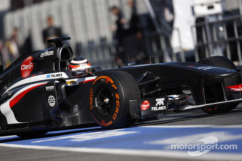 Hülkenberg pleased with second day of Sauber testing at Barcelona