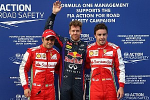 Vettel grabs Malaysian GP pole in rain affected qualifying