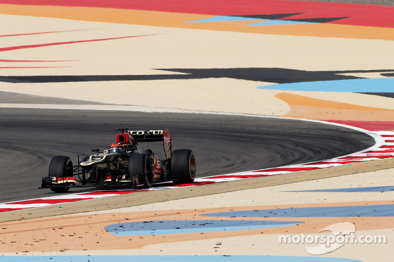 Lotus' Raikkonen went fastest on Friday practice for Bahrain