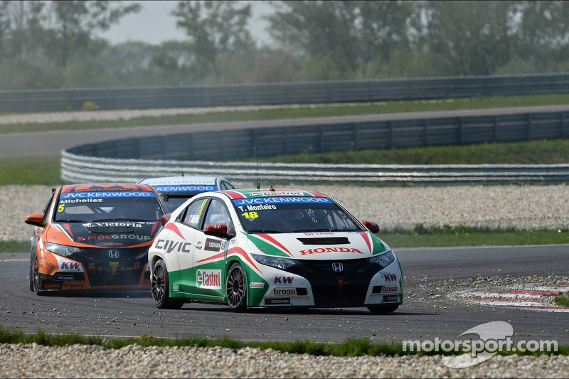 Tiago Monteiro on row two in Hungary