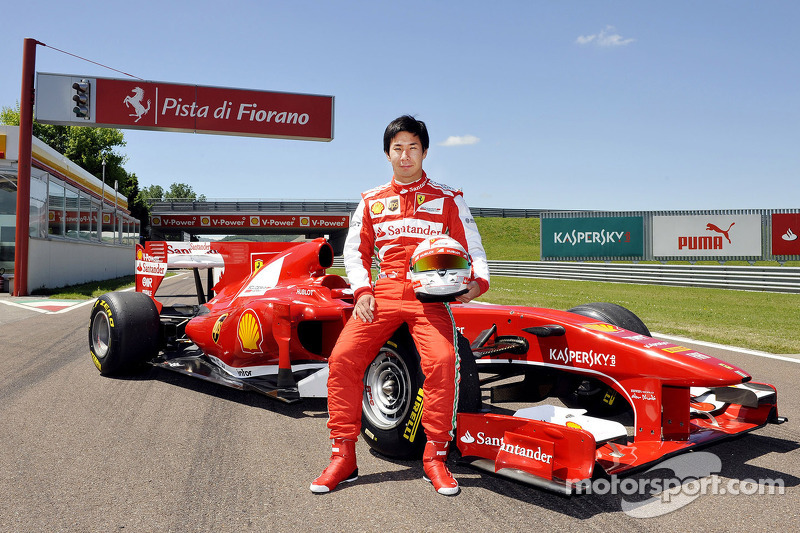 Kobayashi tested Ferrari at Fiorano