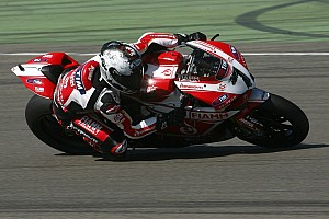 Team SBK Ducati Alstare makes good progress today at Portimao