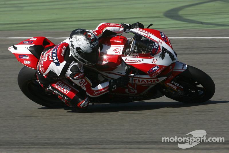 Team SBK Ducati Alstare makes good progress today at Portimao
