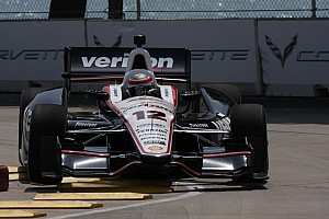 IndyCar Qualifying report Power qualifies third to lead Team Penske effort at Milwaukee Mile