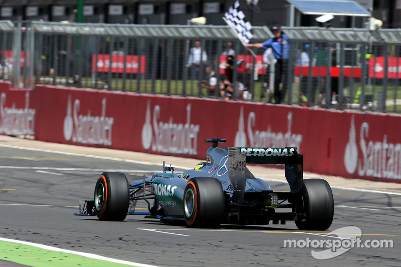 Mercedes' Rosberg won an eventful British Grand Prix
