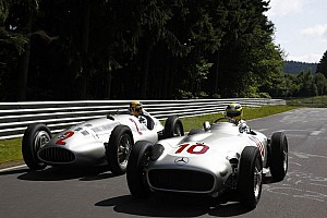 Rosberg and Hamilton enjoy driving historic Silver Arrows