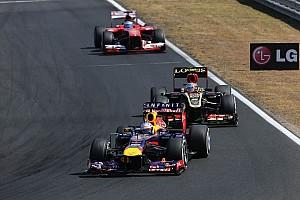 Red Bull 3-4 at the Hungaroring circuit