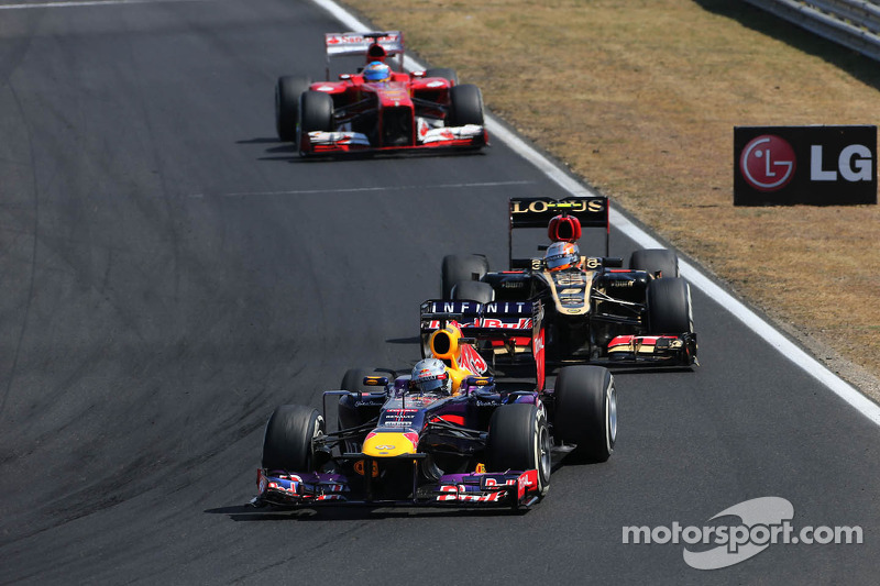 Red Bull 3-4 at the Hungaroring circuit
