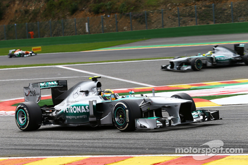 Hamilton and Rosberg secured a strong team result on Belgian GP