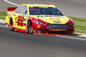 NASCAR Sprint Cup Qualifying report Logano shatters Chicagoland track record in qualifying