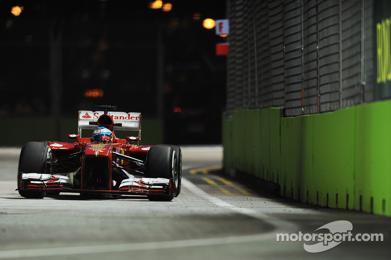 A tough first day in Singapore for Ferrari