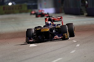 Formula 1 Practice report Toro Rosso out of the top ten on Friday practice at Marina Bay Circuit