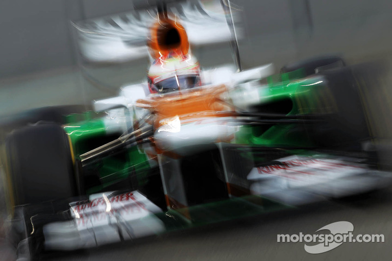 Di Resta and Sutil qualify in 12th and 18th places respectively at the Yas Marina Circuit