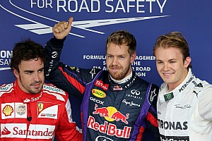 Vettel takes pole in Brazil during tropical rain storm
