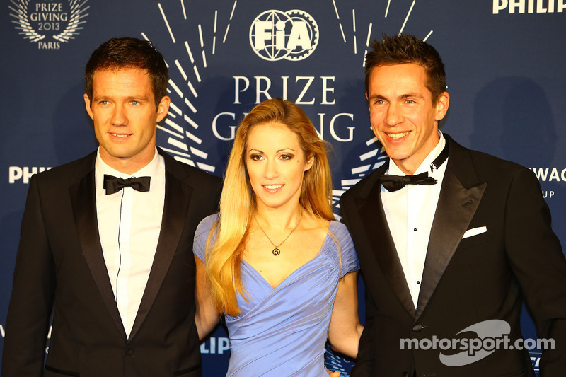 New champions in the WRC: Ogier, Ingrassia and Volkswagen recieve awards at Gala