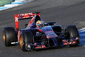 Toro Rosso's Jean-Eric Vergne completed 30 laps today at Jerez