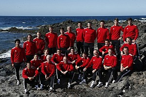 Audi team prepares in Lanzarote