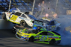 NASCAR Sprint Cup Breaking news Carnage during Daytona 500 practice - Kligerman flips