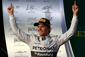 Formula 1 Race report Rosberg runs away in Australia, Ricciardo second, Magnussen third