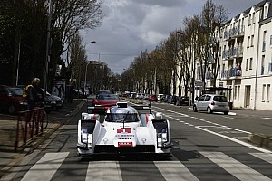 Le Mans Breaking news Audi presents the R18 e-tron quattro with a drive through downtown Le Mans
