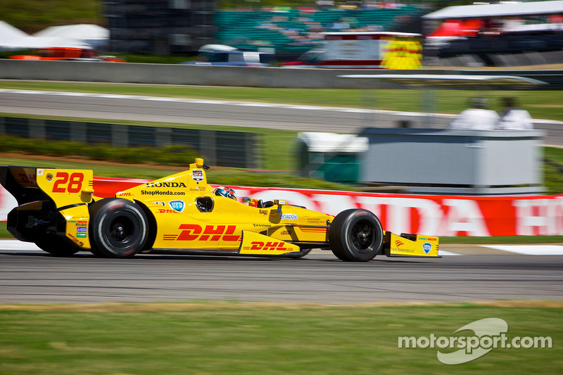 Andretti Autosport after Free Practice at Alabama