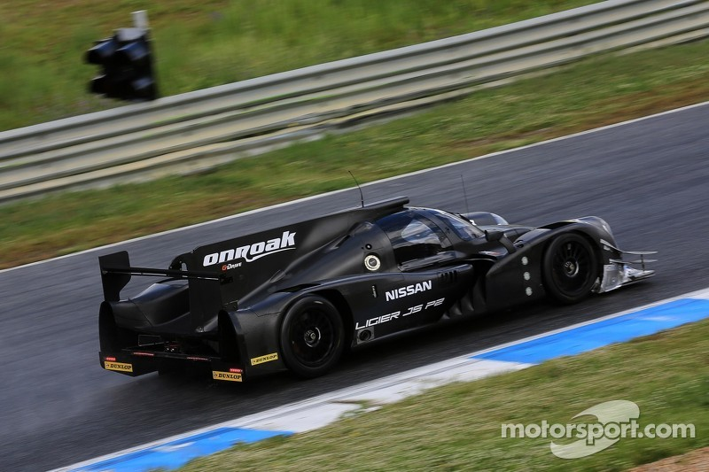 Mardenborough and Shulzhitskiy with Brundle in the no. 35 Ligier JS P2-Nissan