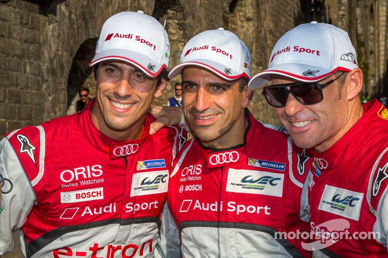 Many celebrities visit Audi at Le Mans
