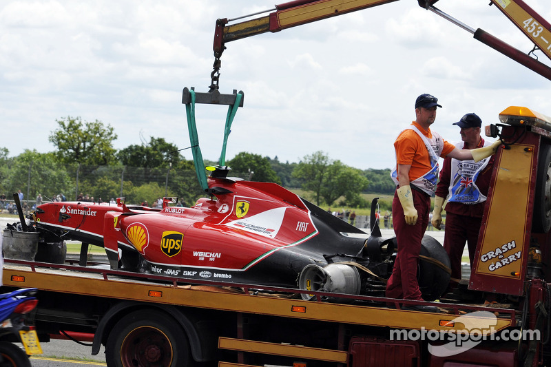British GP red flagged after big crash