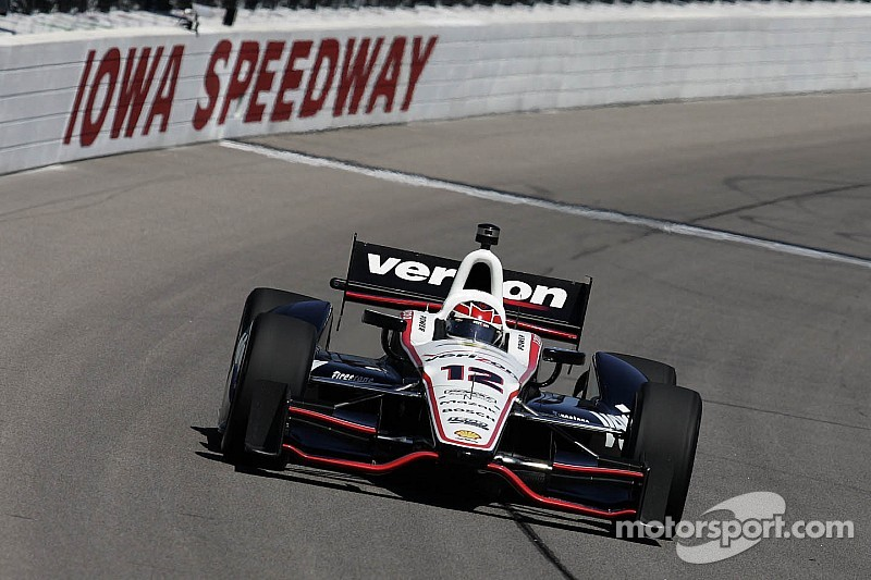 Penske on top during IndyCar practice at Iowa