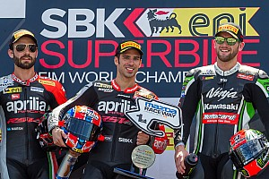 World Superbike Race report Melandri heads Aprilia one-two in first race