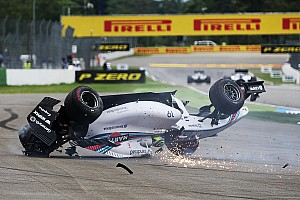 Formula 1 Breaking news Massa flips on opening lap of German GP - video