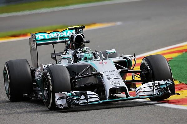 Rosberg fastest in opening practice for Belgian Grand Prix