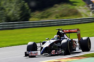 Toro Rosso's Kvyat shows a solid lap time on Friday practice at Spa