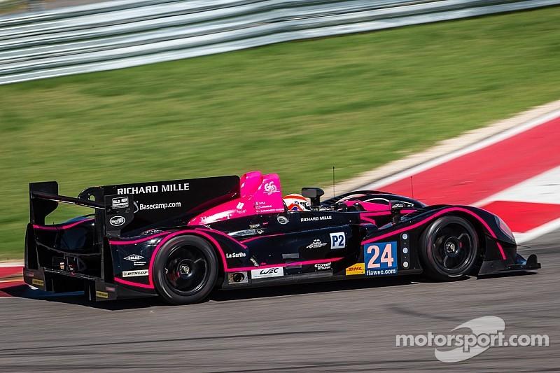 An OAK Racing Morgan-Judd LM P2 in the FIA WEC