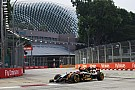 Grosjeam completes 59 laps and Maldonado crashes on Friday practice for the Singapore GP