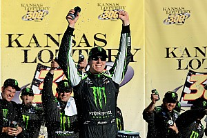 NASCAR XFINITY Race report Kyle Busch overcomes Kansas 'curse' to win Nationwide race