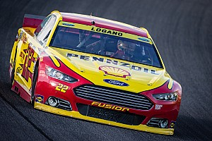 NASCAR Sprint Cup Breaking news Pit road error costs Logano shot at championship