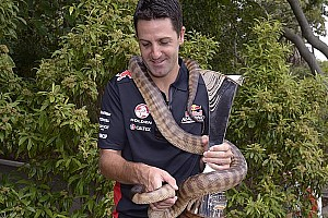 V8 Supercars Breaking news V8 Supercar champ Jamie Whincup bitten by snake