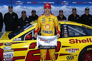 NASCAR Sprint Cup Qualifying report Logano earns his first career pole at Martinsville