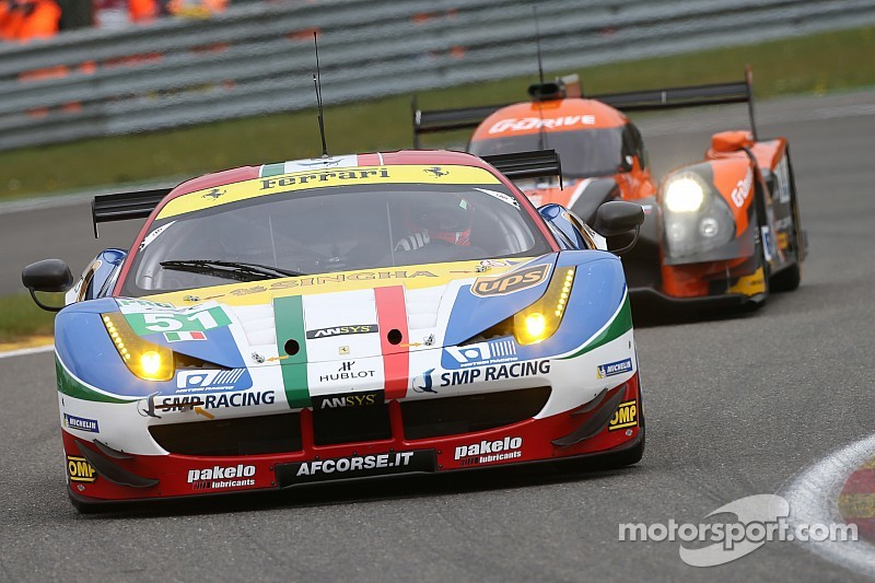 Second and fourth for Ferrari in Spa qualifying