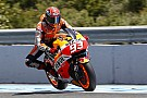 Marquez earns courageous front row despite injury