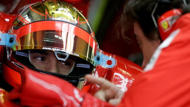 Bianchi veloce sulla F2008 a Fiorano