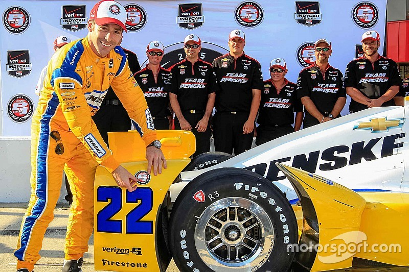 Pagenaud earns first pole of 2015 in all-Penske front row
