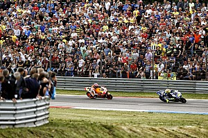 MotoGP Race report Marquez takes second after spectacular battle with Rossi in final chicane with Pedrosa 8th