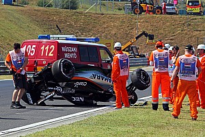 Perez will not run in FP2 after crash
