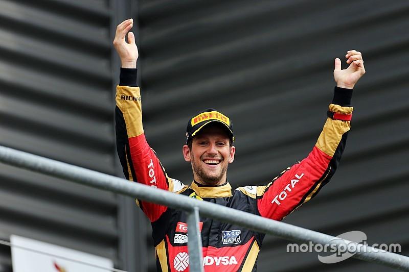 Romain Grosjean ve el tercer sitio como una victoria