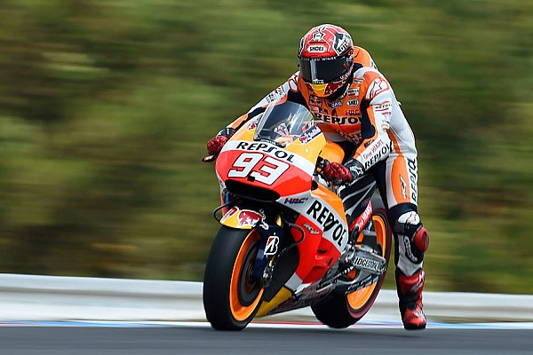 Silverstone MotoGP: Marquez leads Yamaha duo in first practice